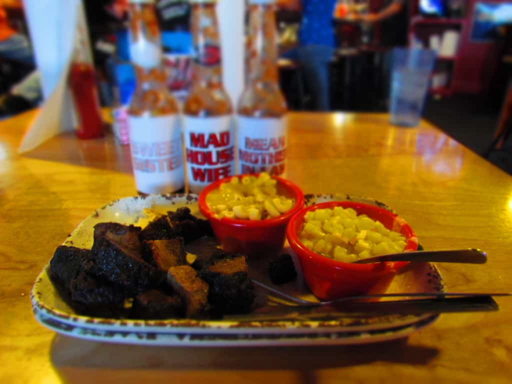 The Burnt End Plate is their most popular menu item.