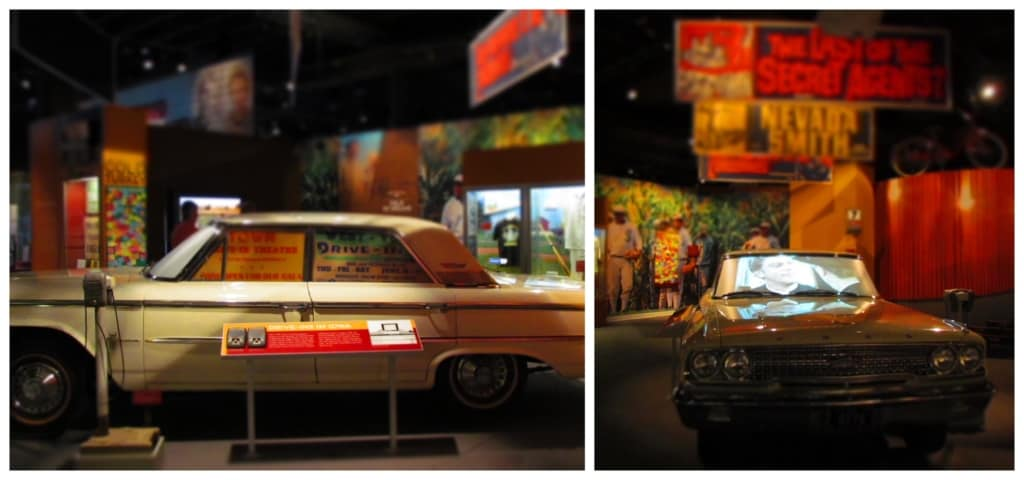 The movie gallery includes an homage to the drive-in theaters that were popular in the mid-twentieth century.