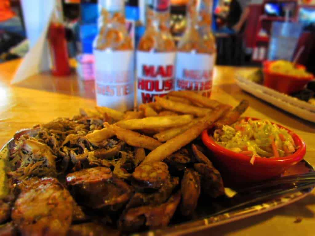 A Two Meat Platter gives customers a choice of options when making a visit to A Little BBQ Joint.