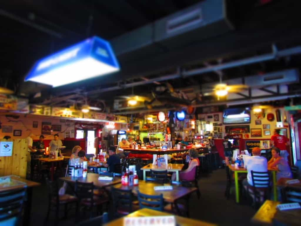 Plenty of seating options are available at A Little BBQ Joint in Independence, Missouri.