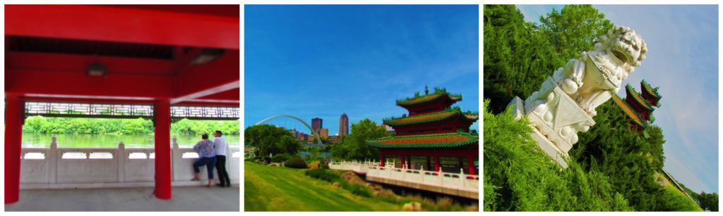 The Robert D, Ray Asian Garden is a cool place to relax along the banks of the Des Moines River.