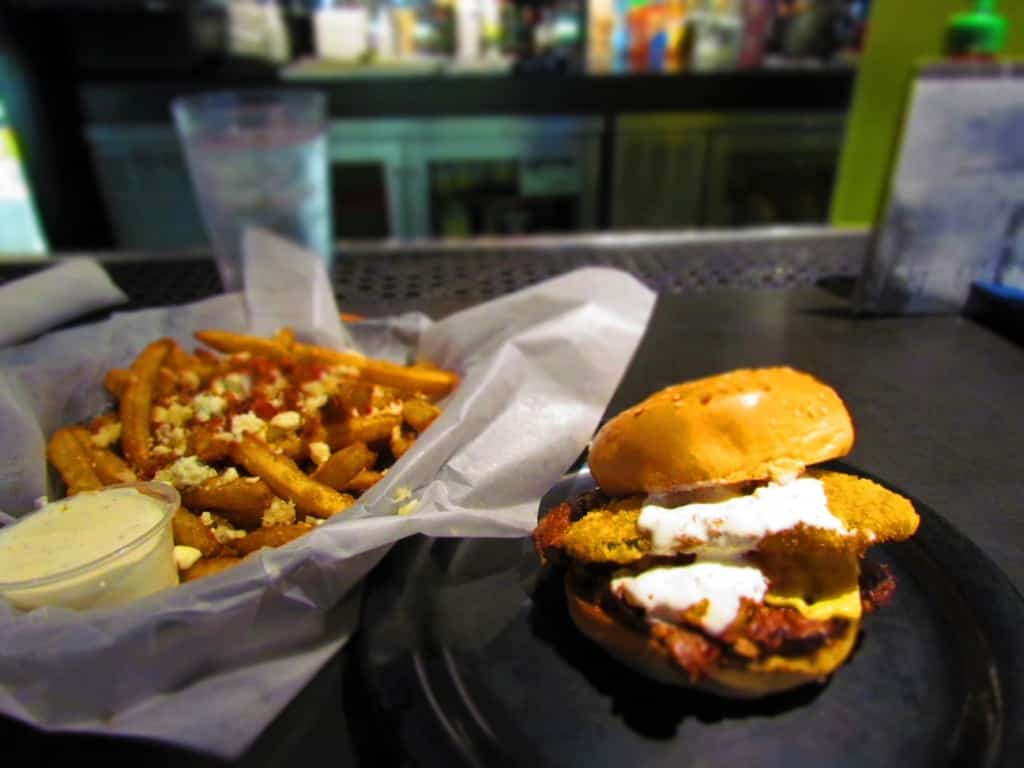 The Trailer Trash Zombie burger is an interesting combination of flavors.