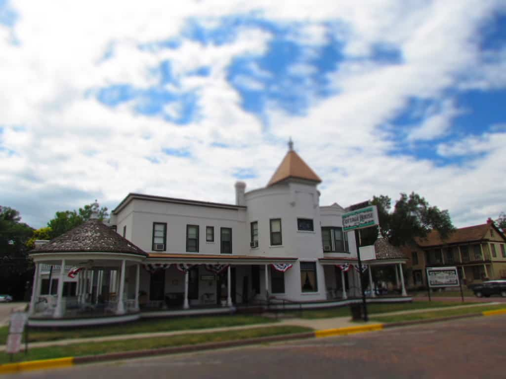 Cottage House offers a historic lodging option in Council Grove. Kansas.