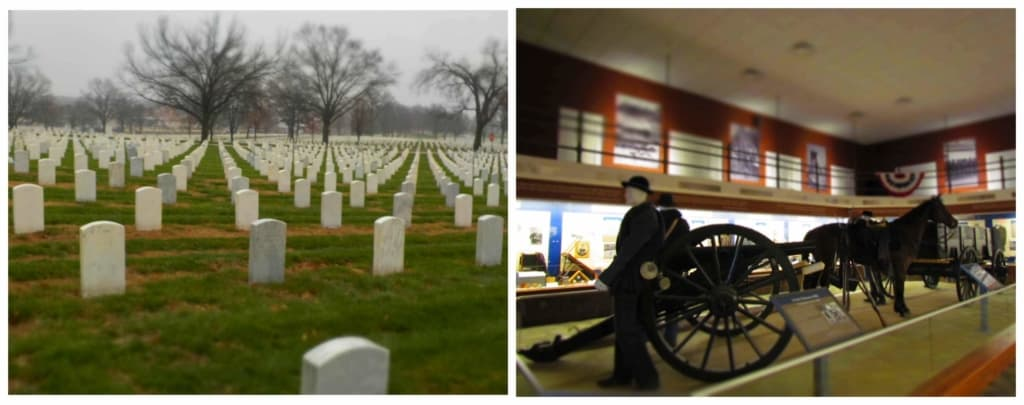 At the Jefferson Barracks we visited the Missouri Civil War Museum, which offers a non-partisan approach to showing the cause and effects of the war between the states.