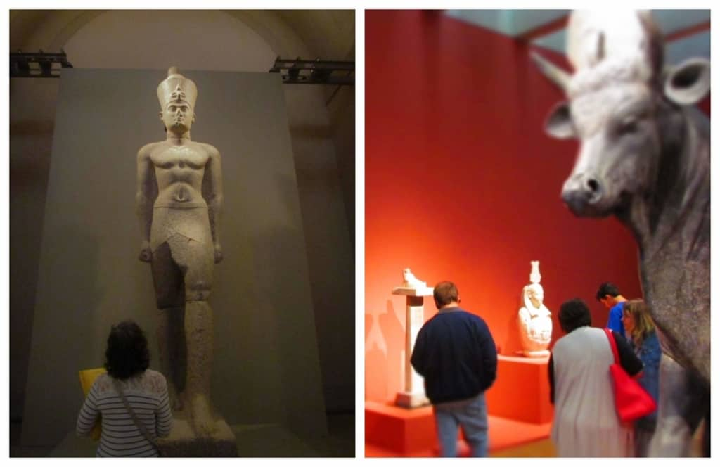 A traveling exhibit on the Sunken Treasures of Egypt draws lots of visitors to the St. Louis Art Museum.