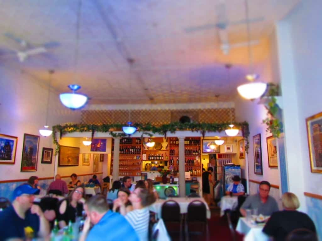 Locals love dining at Olympic Flame restaurant in Des Moines, Iowa.