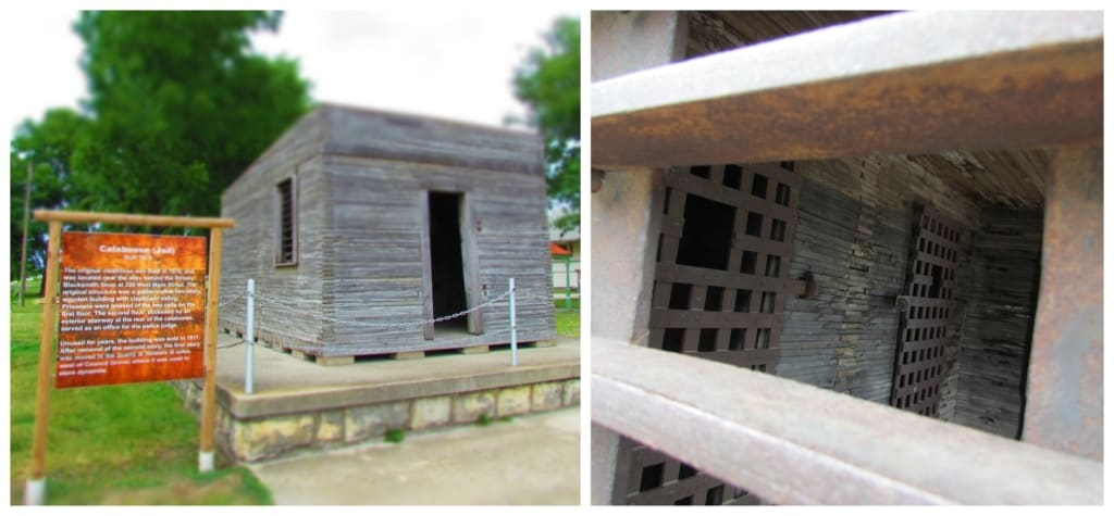 A replica of yje original jail for Council Grove can be found along Main Street.