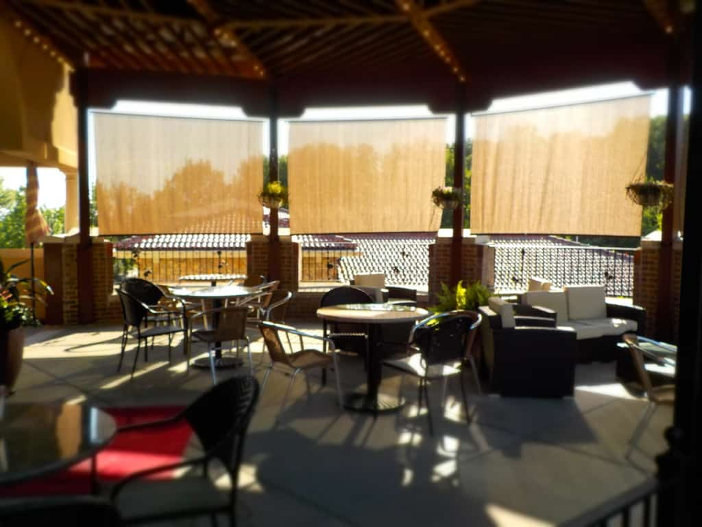 A shaded patio space is perfect for some Al Fresco dining at Piropo's.