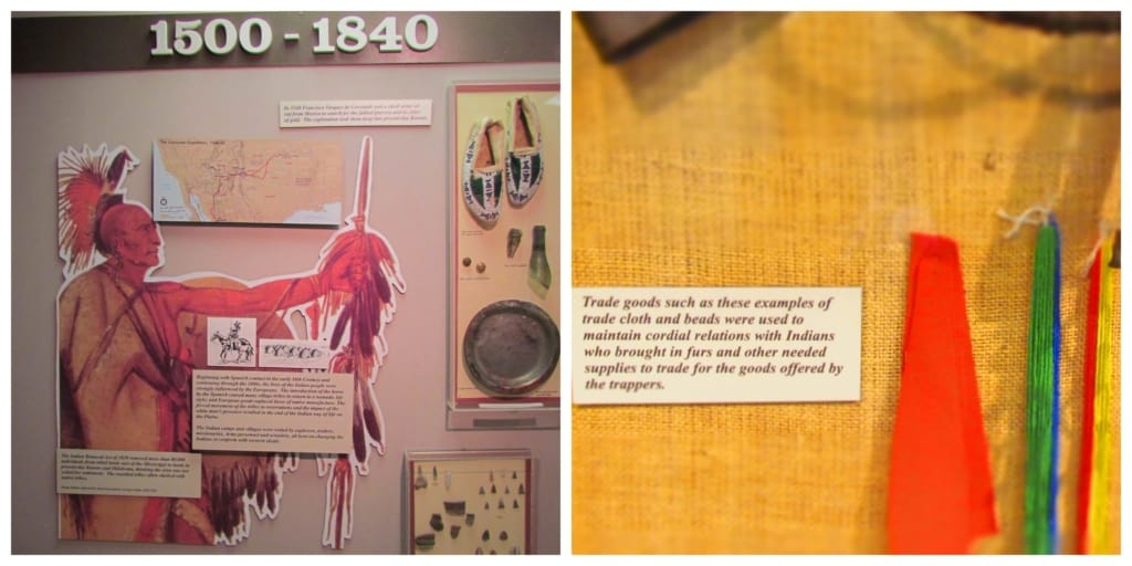 A display gives information on the plains indian tribes who once roamed the area.
