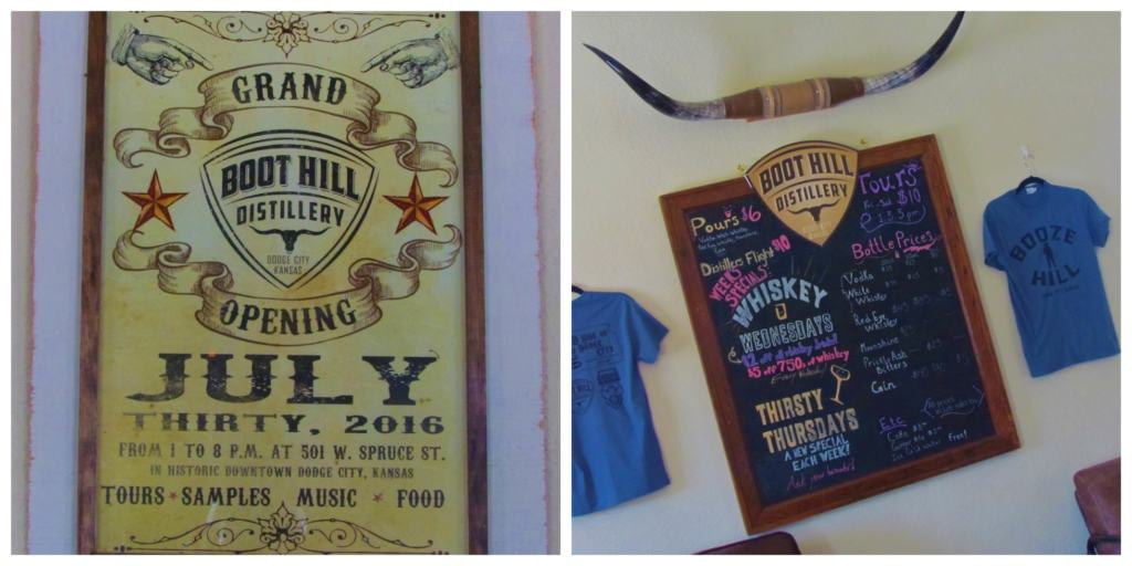 Boot Hill Distillery offers tours and samples of their products.