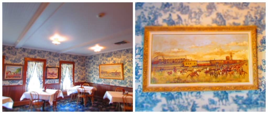 The Brookville Hotel is adorned with western artwork.
