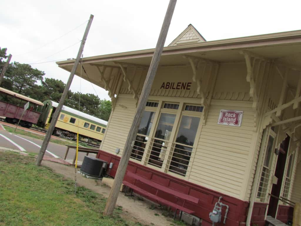 The Abilene and Smoky Valley Railroad offers visitors a chance to ride the rails.