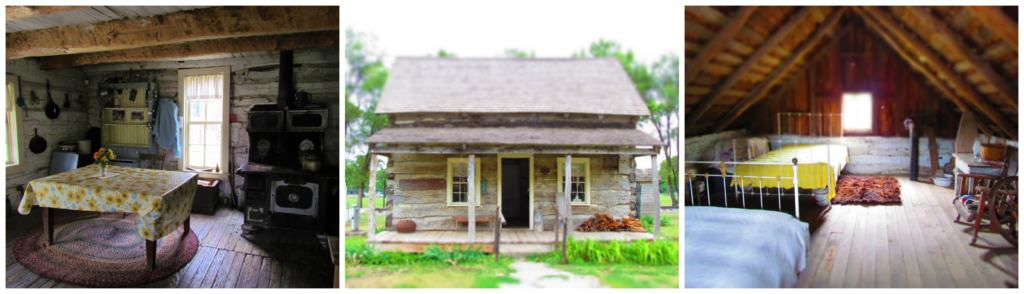 An old cabin shows how life was during the late 1800's.