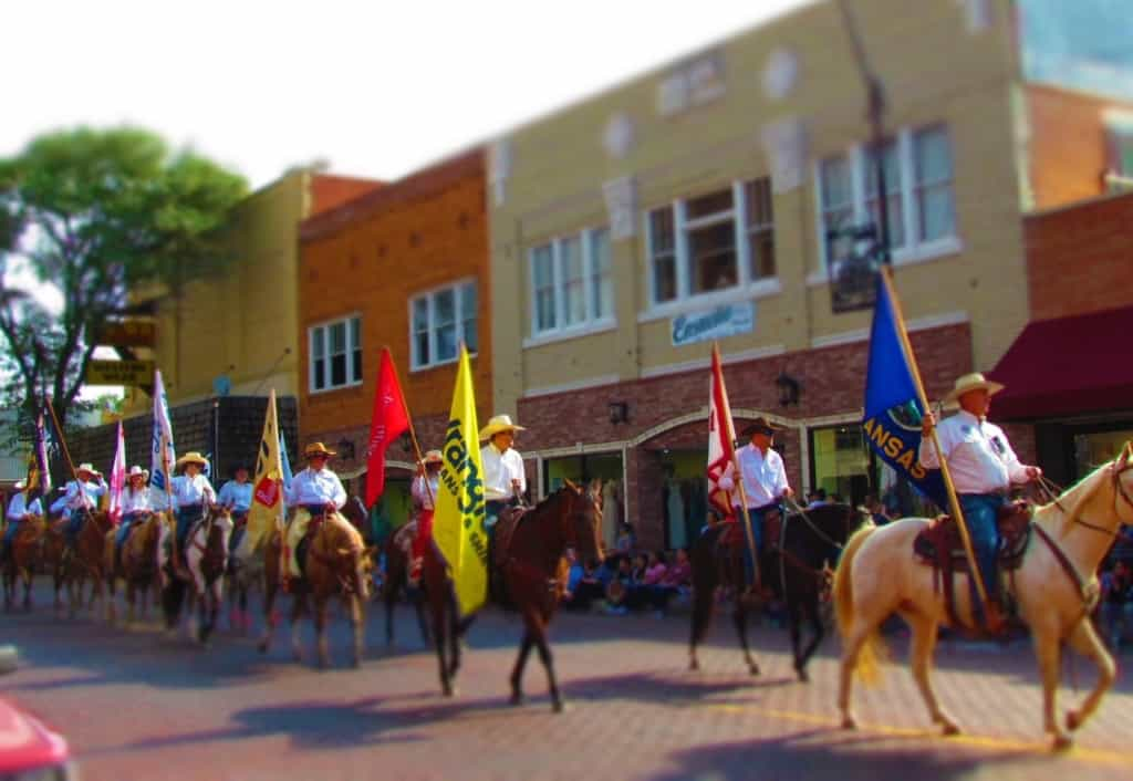 Horses are a big part of the Dodge City Days Parade.