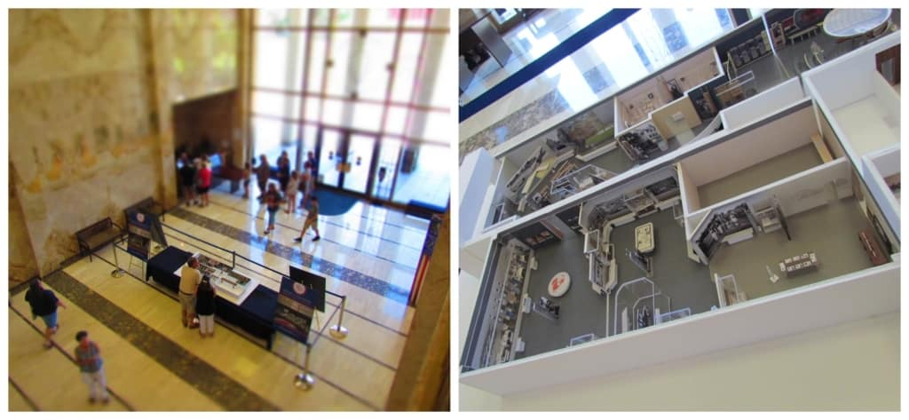 In the main entrance to the library, guests can see the new museum layout.