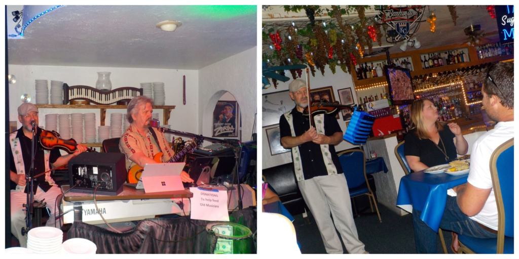Live music is a regular occurrence at Tasso's Greek restaurant.