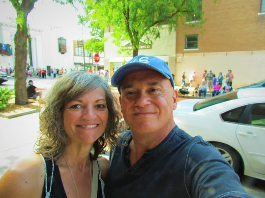 The authors pose for a selfie before the Dodge City Days Parade.