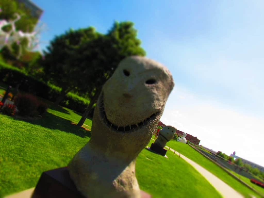 A couple of odd looking sculptures add a little laughter to the visit.