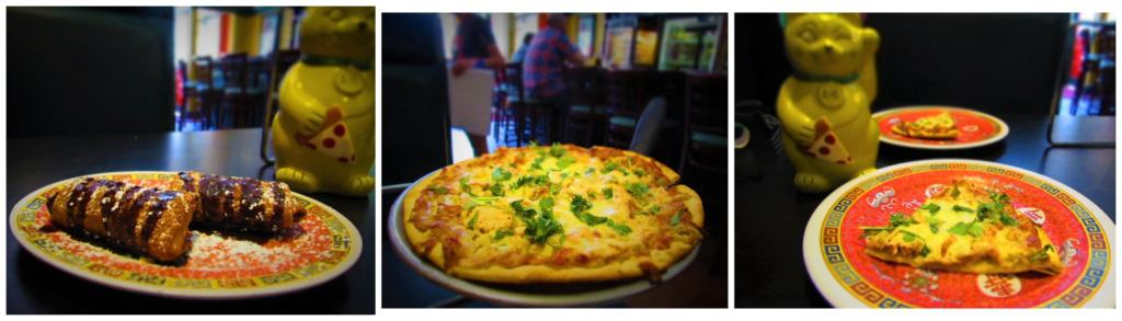 Fong's Pizza mixes Chinese and Italian to create unique dishes.