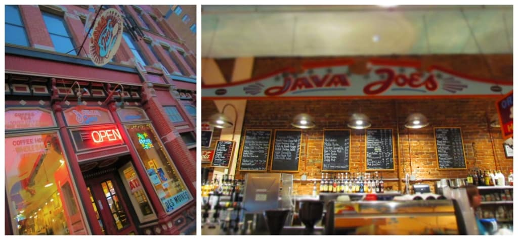 We were pleased to get our coffee fix at Java Joe's in downtown Des Moines.