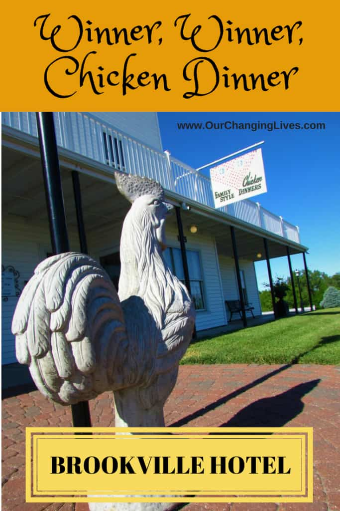 Brookville Hotel-chicken dinner-family style dinner-Abilene Kansas-restaurant-Kansas dining