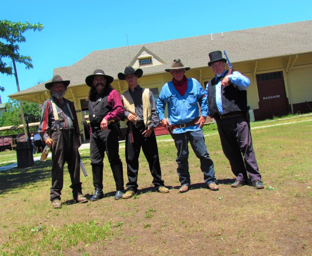 The cast of gunfighters are volunteers who love sharing their passion with the crowds.