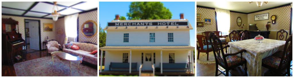 The hotel is decorated with period pieces that show what life was like after the Civil War.