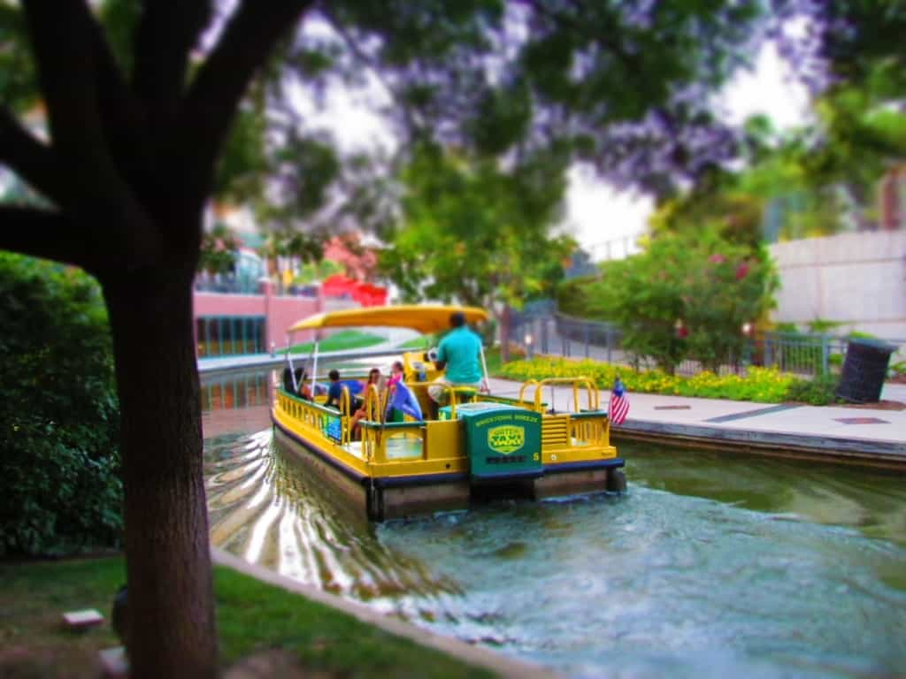 A Bricktown Water Taxi takes visitors on a guided tour of Bricktown.