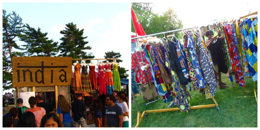 Clothing from foreign countries is sold at the Kansas City Ethnic Festival.
