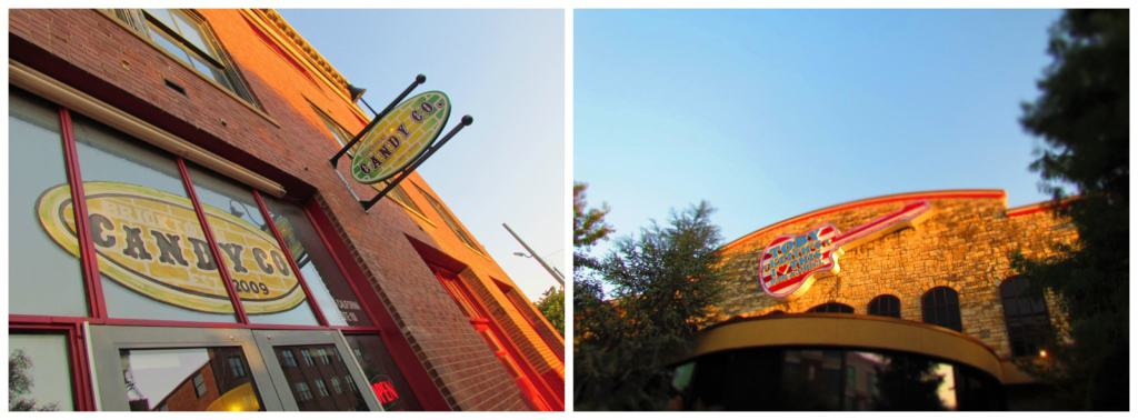 There are plenty of dining options at the Bricktown area in Oklahoma City.
