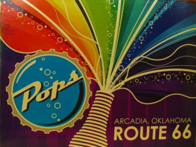 Pops Restaurant is a local hot spot on Route 66 in Arcadia, Oklahoma