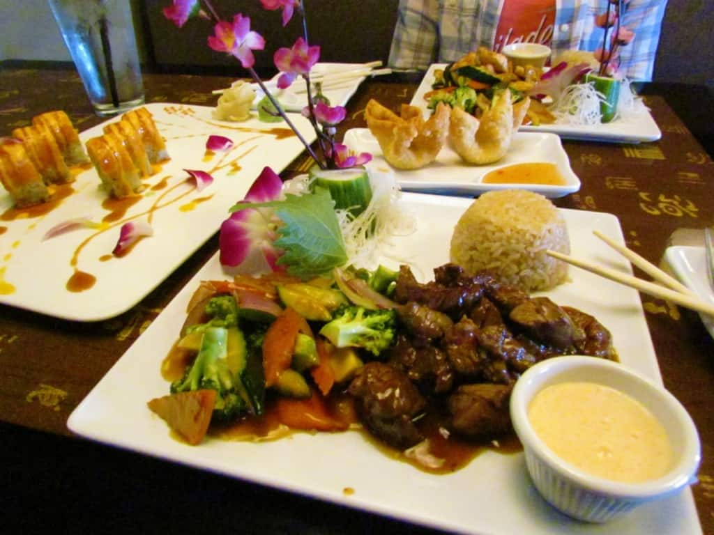 Hibachi Beef is tender and delicious at Oishi Japanese Cuisine.