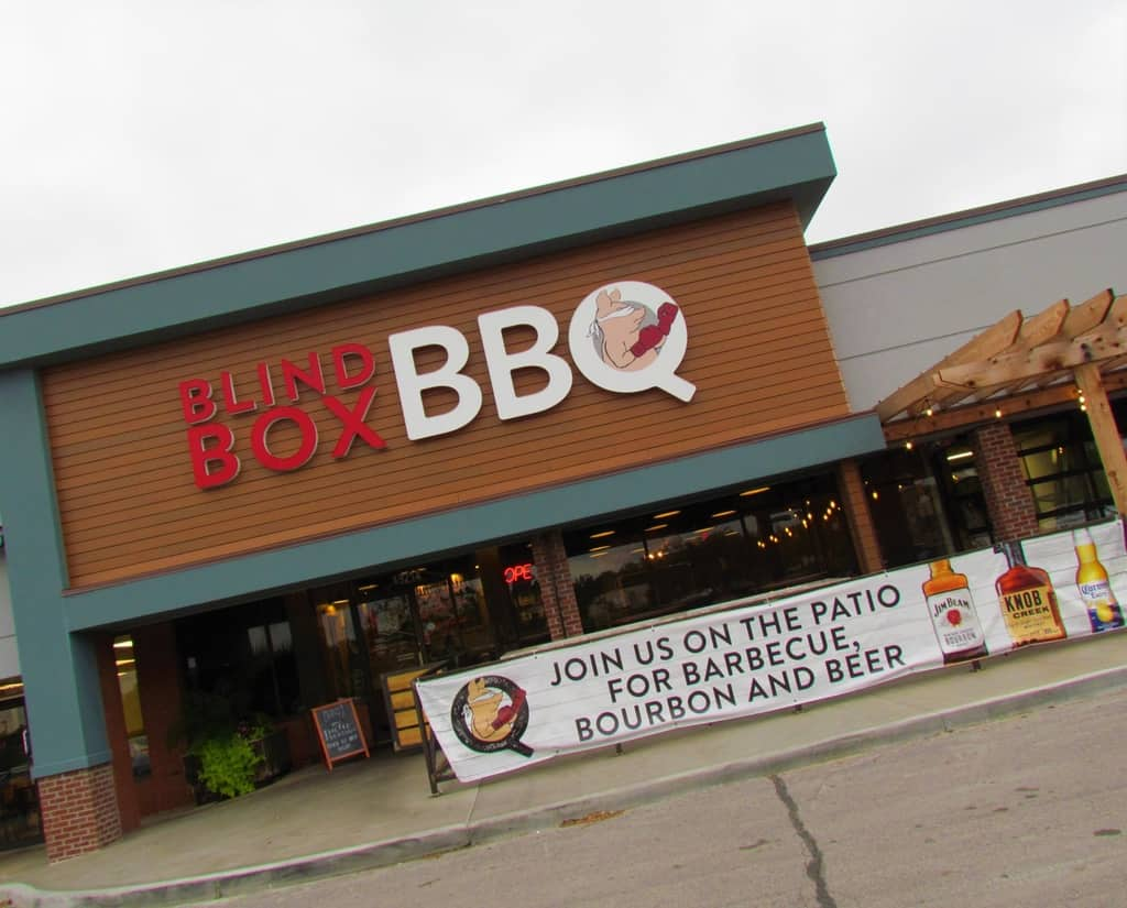 The exterior of Blind Box BBQ haides the delicious tastes found inside.