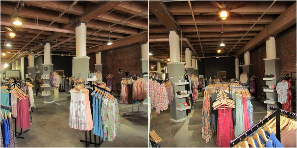 Shoppers have the added bonus of seeing inside many historic buildings.