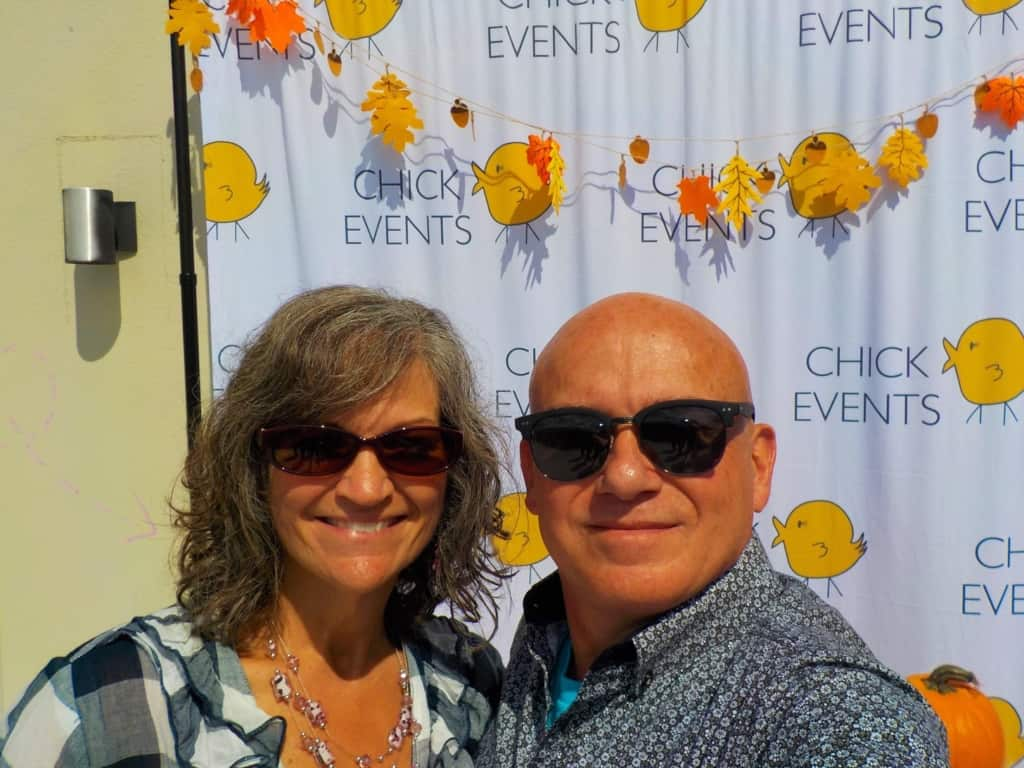 The authors pose for a selfie at a recent pop-up shopping event in Kansas city, Kansas.