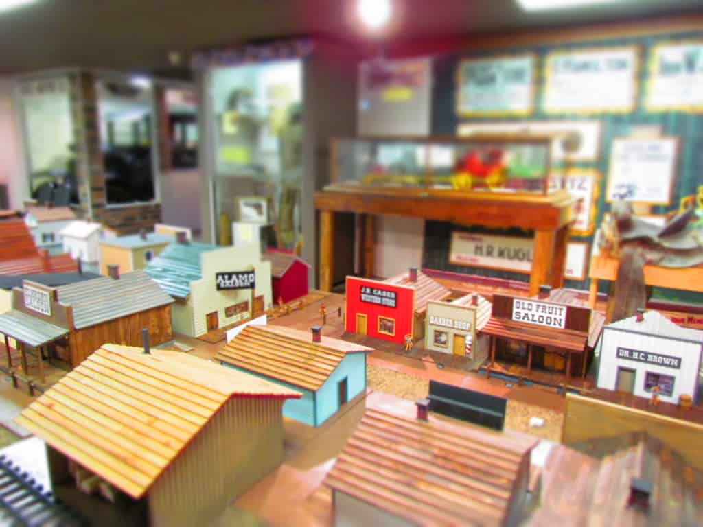 A model of the old Abilene Town reminds visitors of the city's western heritage.