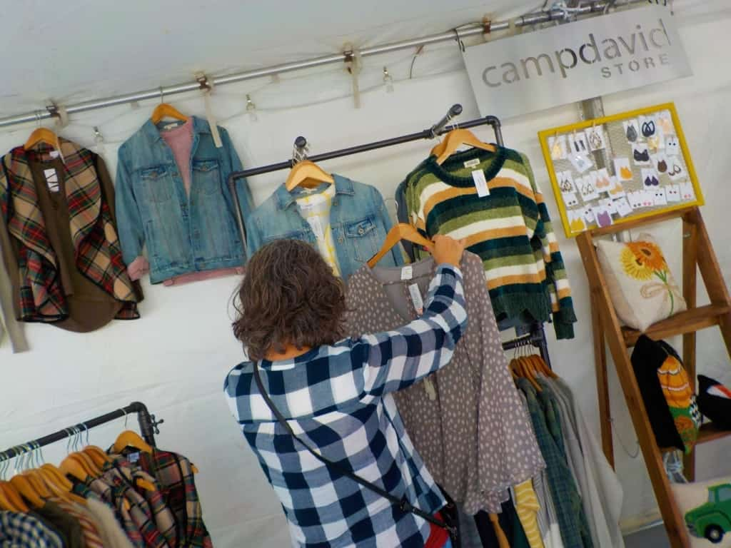 Pop up shops give shoppers a view at some new small shop products.