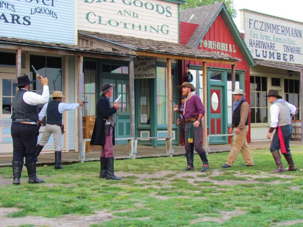 Tensions run high as guns are drawn by both sides at the Dodge City Days gunfight show.