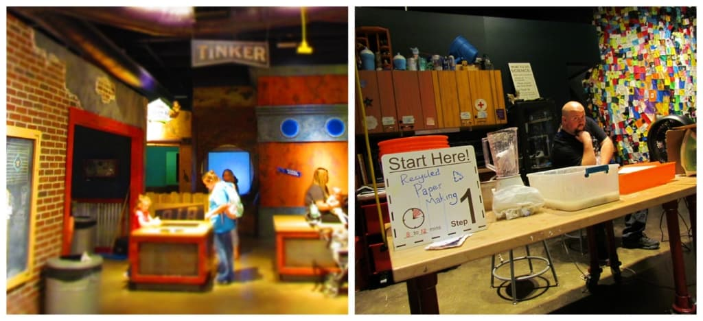 In CurioCity visitors have a chance to sample some hands-on exhibits and create their own paper.