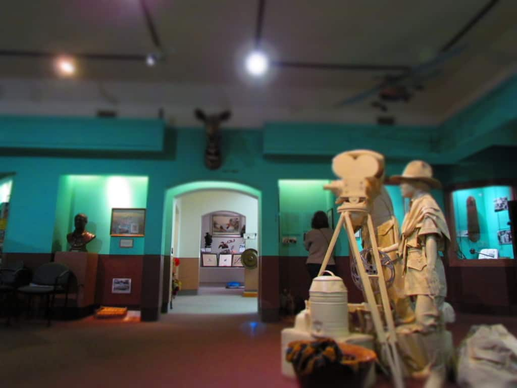 One of the rooms in the safari museum has interactive exhibits for visitors to enjoy.