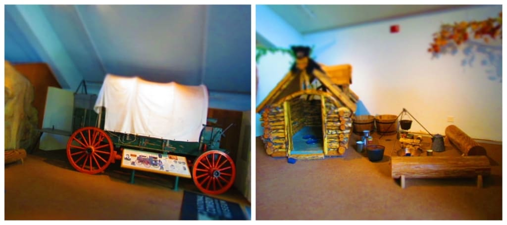 Children and adults can pretend to be pioneers, while learning about life in the late 1800's.