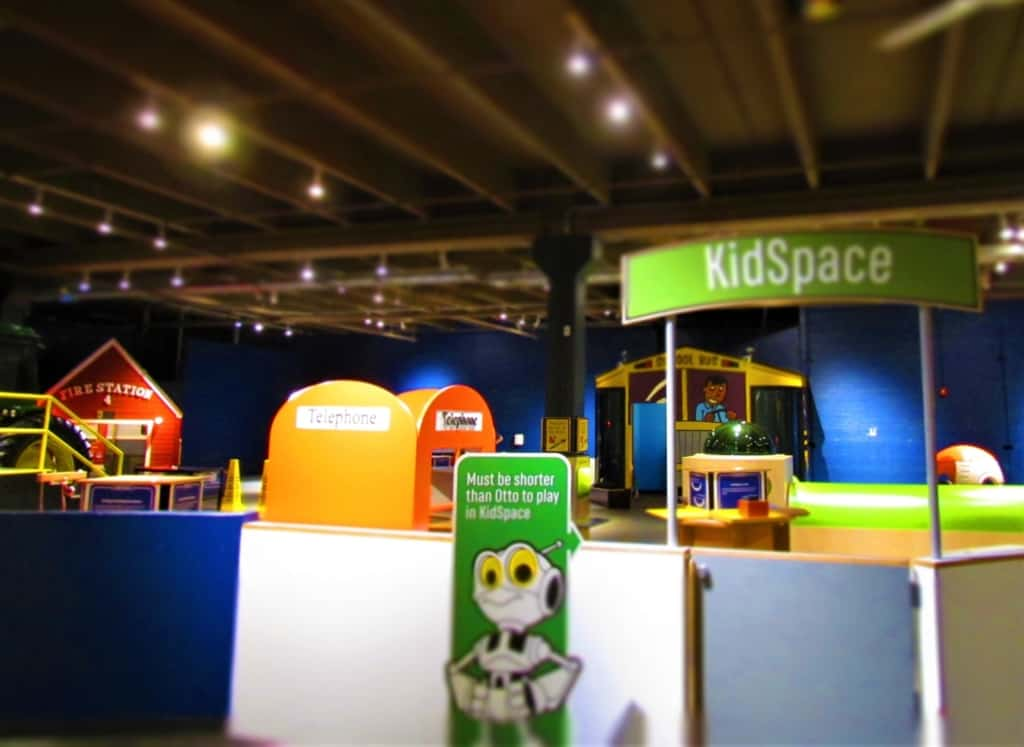 KidSpace allows the younger set a space to play and learn.