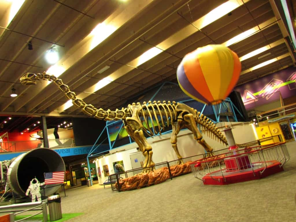 The main space at the Science Museum Oklahoma is filled with bright and exciting displays.