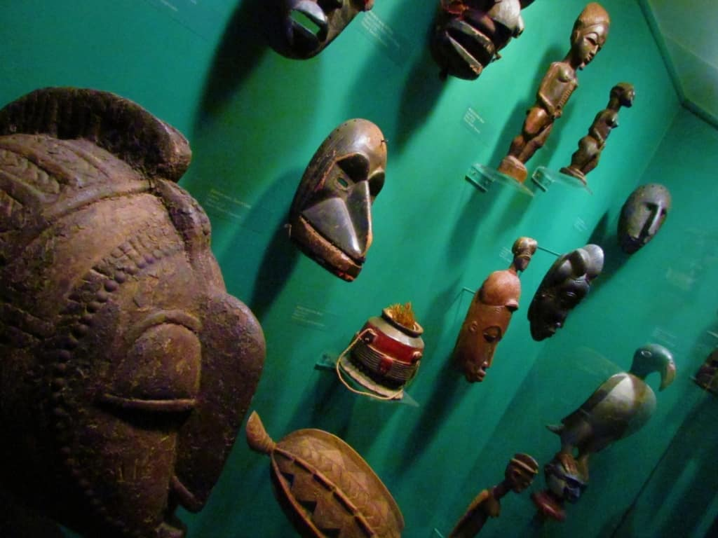 The Johnson Safari Museum has a wide range of ceremonial masks on display.