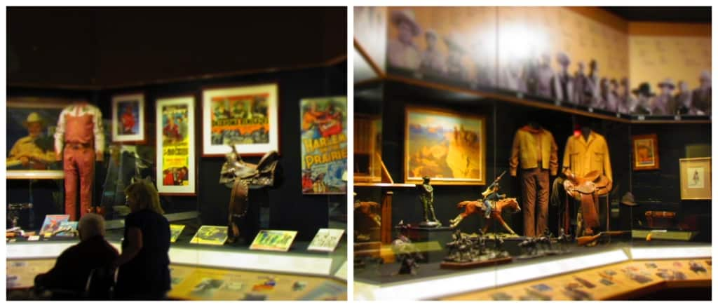 Memorabilia from various movie stars is displayed at the national Cowboy Museum.