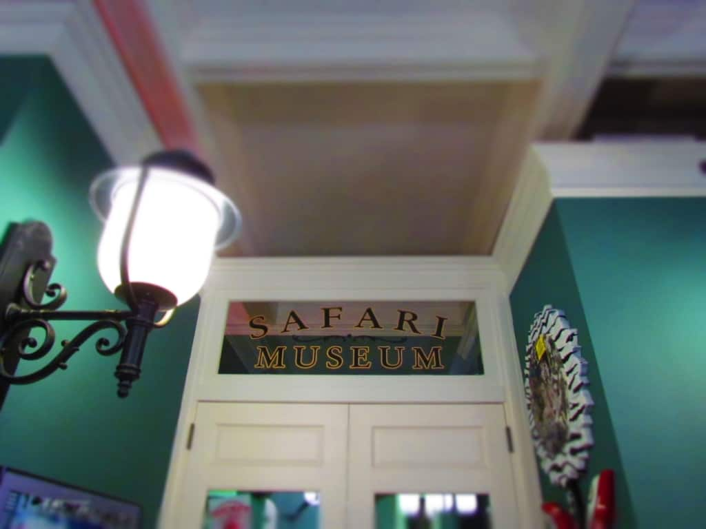 The entrance to the Martin and Osa Johnson Safari Museum in Chanute, Kansas.