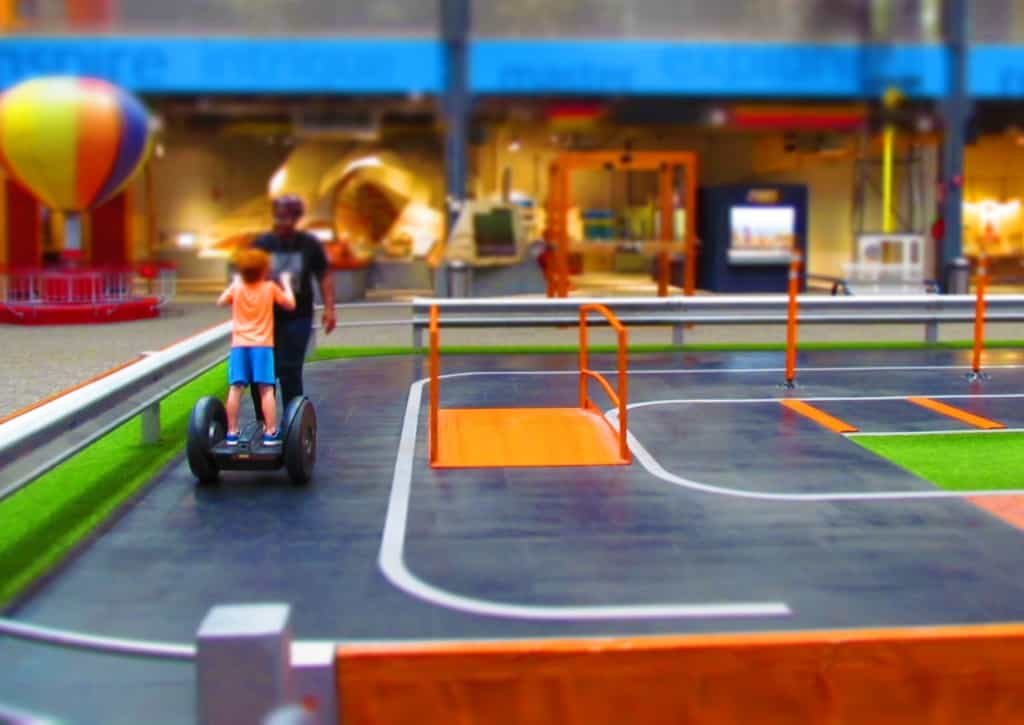 Science Museum Oklahoma has a space for visitors to test ride on Segways.