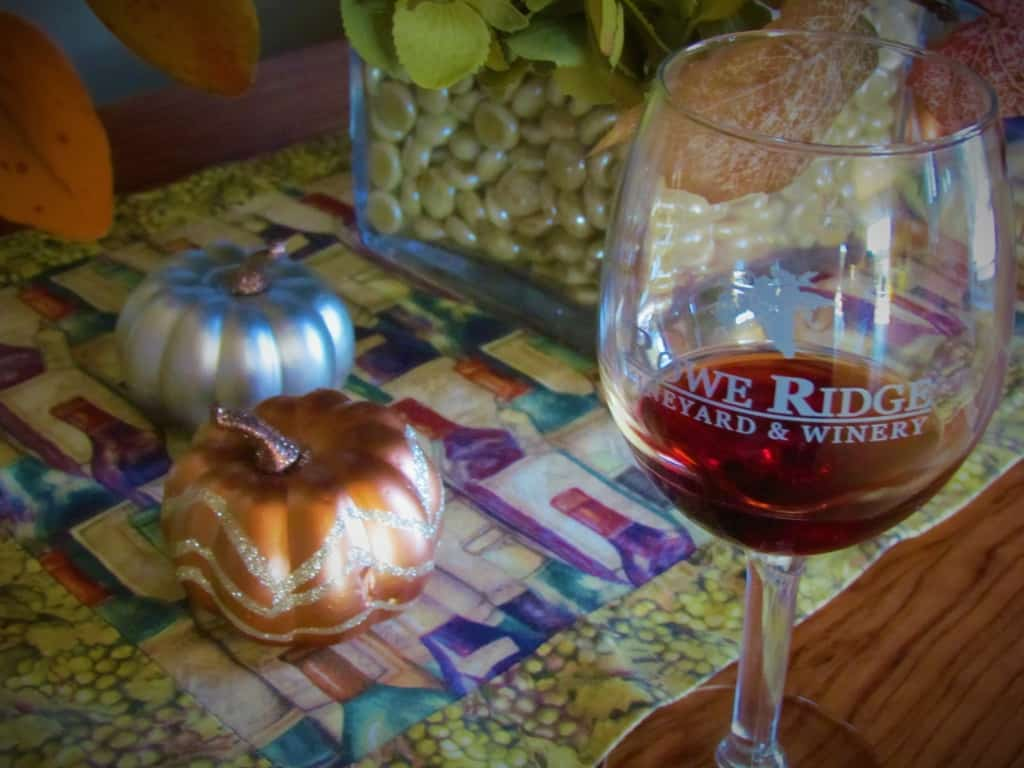 A Fall display found at Rowe Ridge Vineyard and Winery.