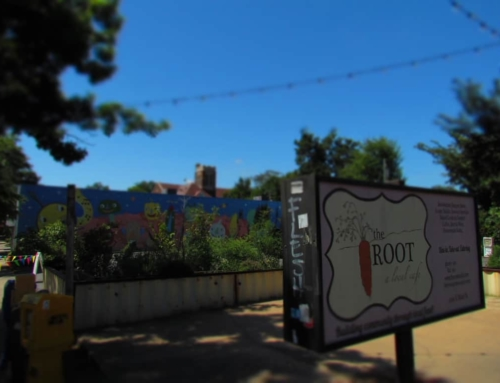 Lining Up To Try The Root Cafe