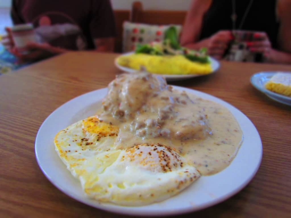 The Biscuits and Gravy are homemade deliciousness.